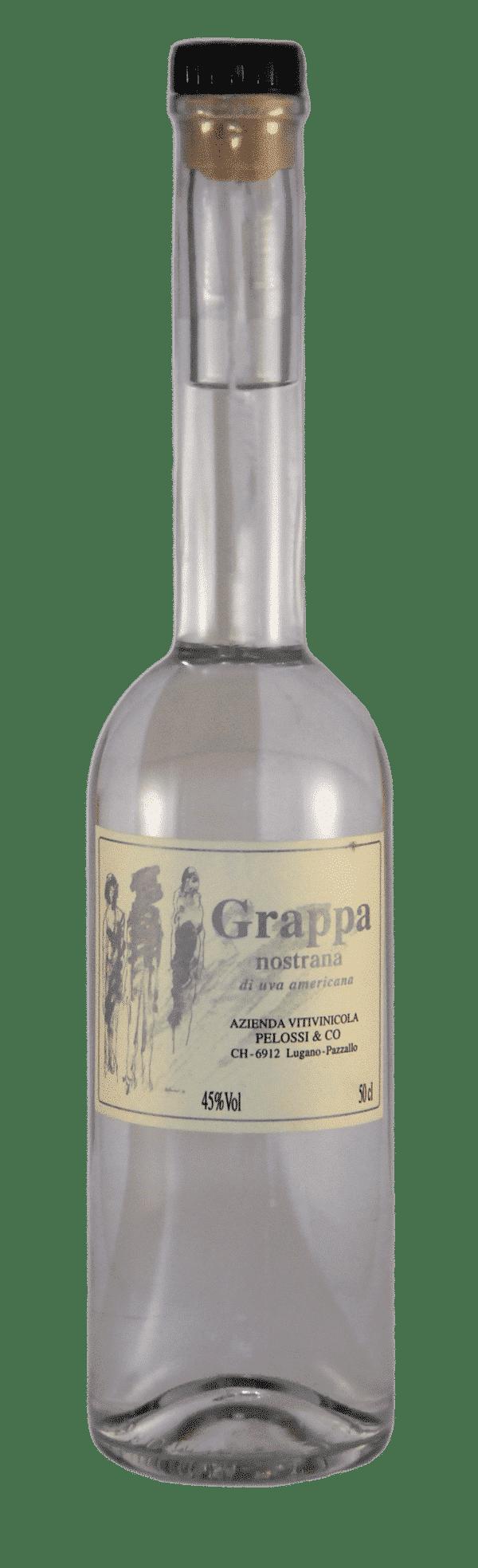 Grappa nostrana di uva Americana