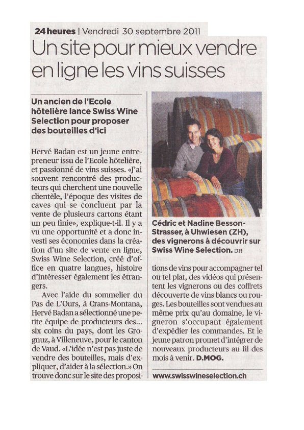 presse swiss wine selection