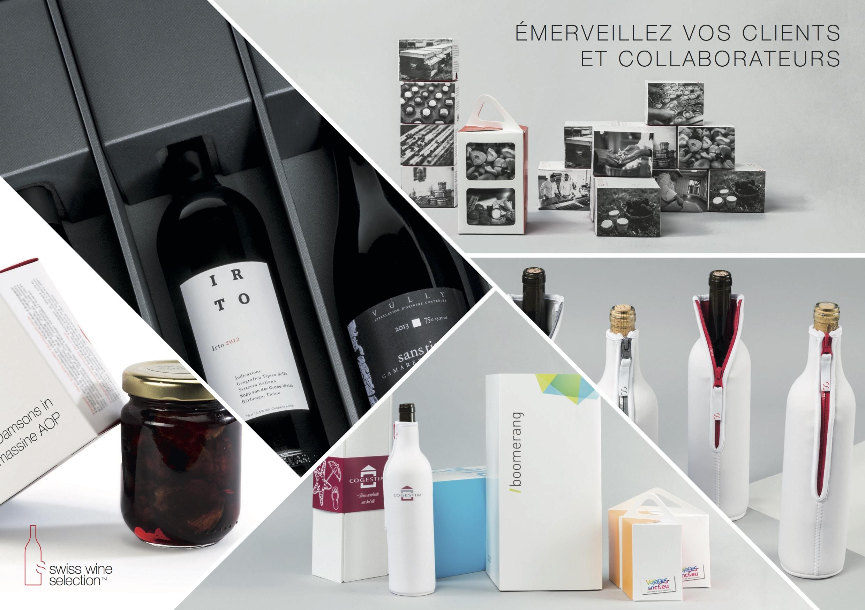 Cadeaux clients vins suisses